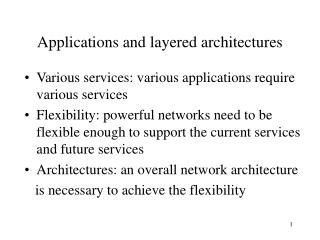 Applications and layered architectures