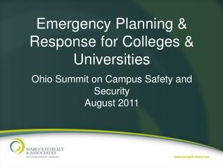 Emergency Planning & Response for Colleges & Universities