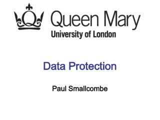 Data Protection Paul Smallcombe