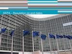 SEPA   Regulation on end dates