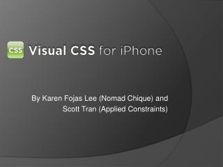Visual CSS for iPhone