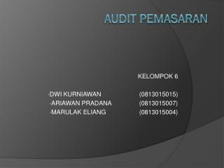 AUDIT  PEMASARAN