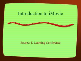 Introduction to iMovie