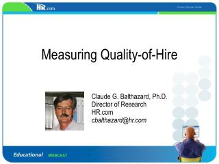 Measuring Quality-of-Hire