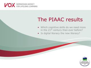 The PIAAC results
