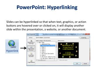 PowerPoint: Hyperlinking