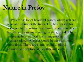 Nature in Prešov