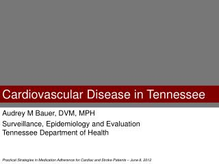 Cardiovascular Disease in Tennessee