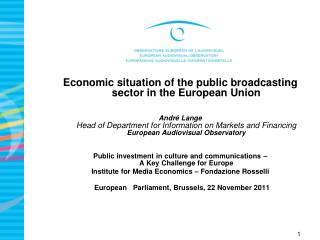 Economic situation of the public broadcasting sector in the European Union
