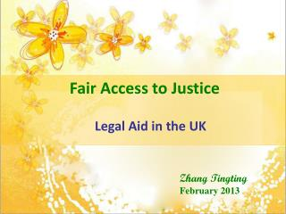 Fair Access to Justice Legal Aid in the UK