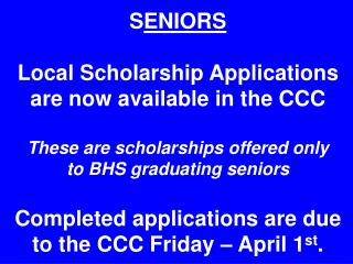 Community Service Scholarship