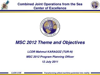 Combined Joint Operations from the Sea Center of Excellence