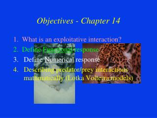 Objectives - Chapter 14