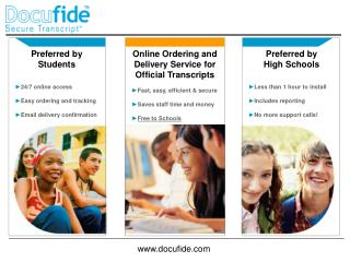 Preferred by Students 24/7 online access Easy ordering and tracking Email delivery confirmation