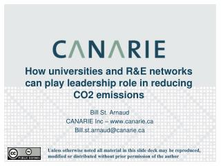 How universities and R&E networks can play leadership role in reducing CO2 emissions