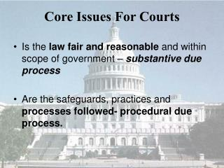 Core Issues For Courts