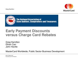 Early Payment Discounts versus Charge Card Rebates