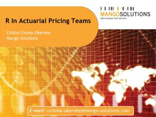R In Actuarial Pricing Teams
