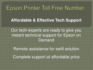 Epson Printer Toll Free Number 1-800-832-1504 | Tech Support