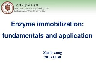 Enzyme immobilization: fundamentals and application