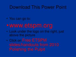 Download This Power Point