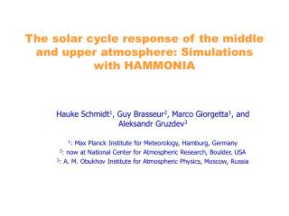 The solar cycle response of the middle and upper atmosphere: Simulations with HAMMONIA