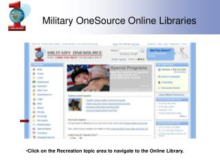 Military OneSource Online Libraries