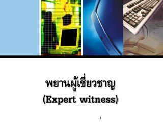 พยานผู้เชี่ยวชาญ ( Expert witness)