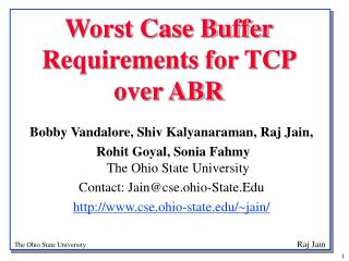 Worst Case Buffer Requirements for TCP over ABR