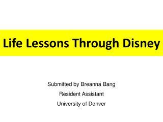 Life Lessons Through Disney