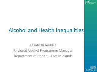Alcohol and Health Inequalities