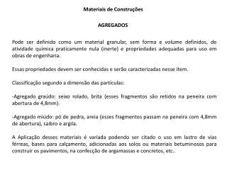 Materiais de Construções