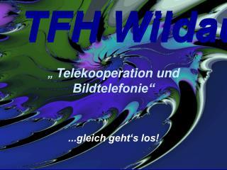 """""""  Telekooperation und Bildtelefonie"""" ...gleich geht's los!"""