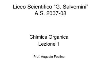 "Liceo Scientifico ""G. Salvemini"" A.S. 2007-08"