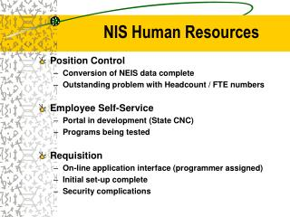 NIS Human Resources