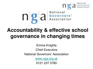 Accountability & effective school governance in changing times