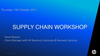 Supply chain workshop