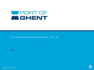 Vb van doorlooptijden tijdens ketenwerking zee – Gent - zee