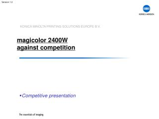 magicolor 2400W against competition