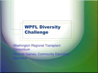 WPFL Diversity Challenge