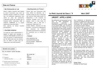 Le Petit Journal de Stea n °9