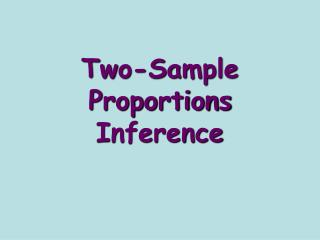 Two-Sample Proportions Inference
