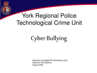 York Regional Police Technological Crime Unit