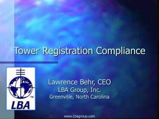 Tower Registration Compliance