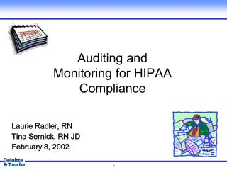 Auditing and Monitoring for HIPAA Compliance