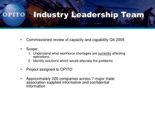 Industry Leadership Team