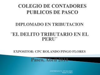 COLEGIO DE CONTADORES PUBLICOS DE PASCO