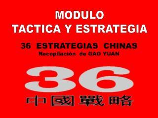 MODULO TACTICA Y ESTRATEGIA