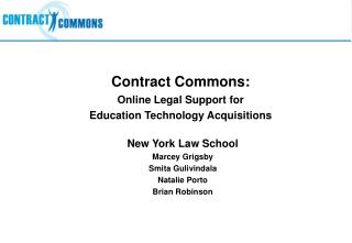 Contract Commons: Online Legal Support for  Education Technology Acquisitions