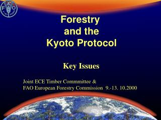 Forestry  and the Kyoto Protocol